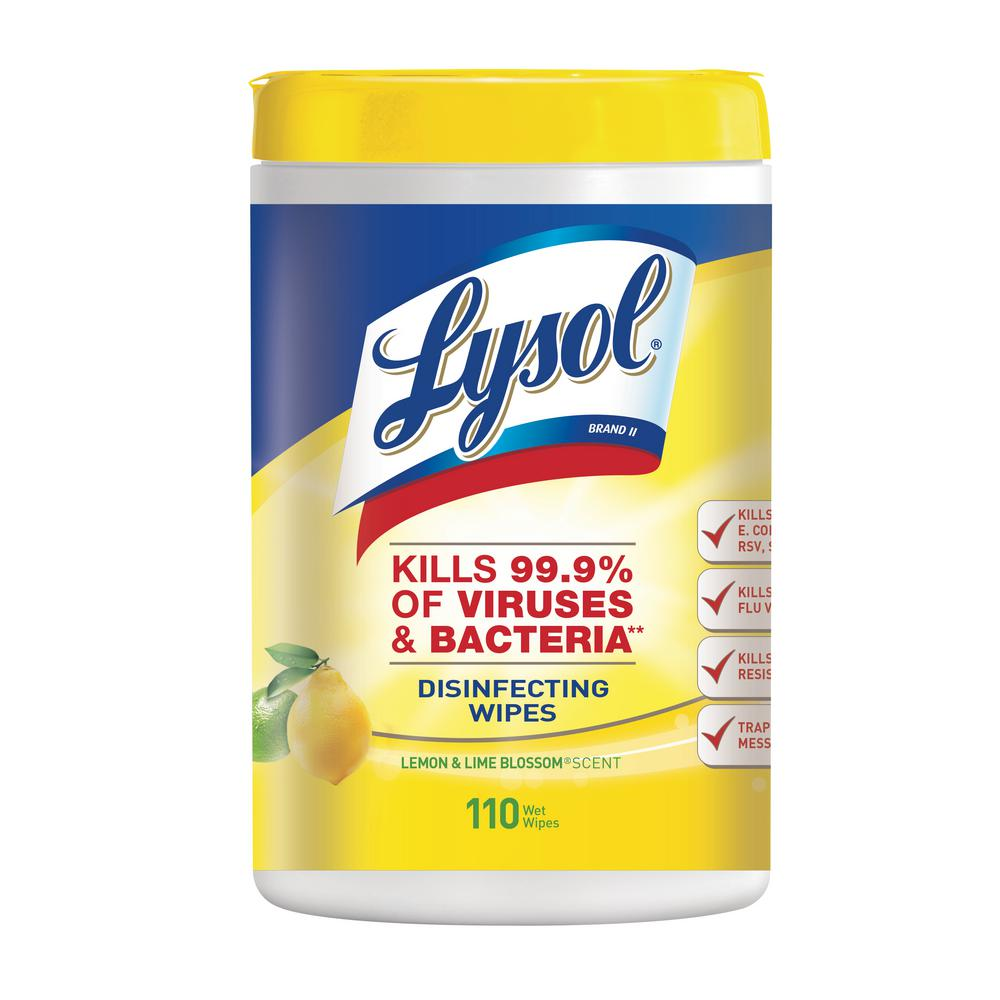 Lysol Lemon and Lime Blossom Scent Disinfecting Wipes (110-Count)
