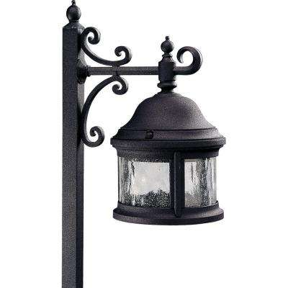 1-Light Low-Voltage Black Outdoor Pathlight
