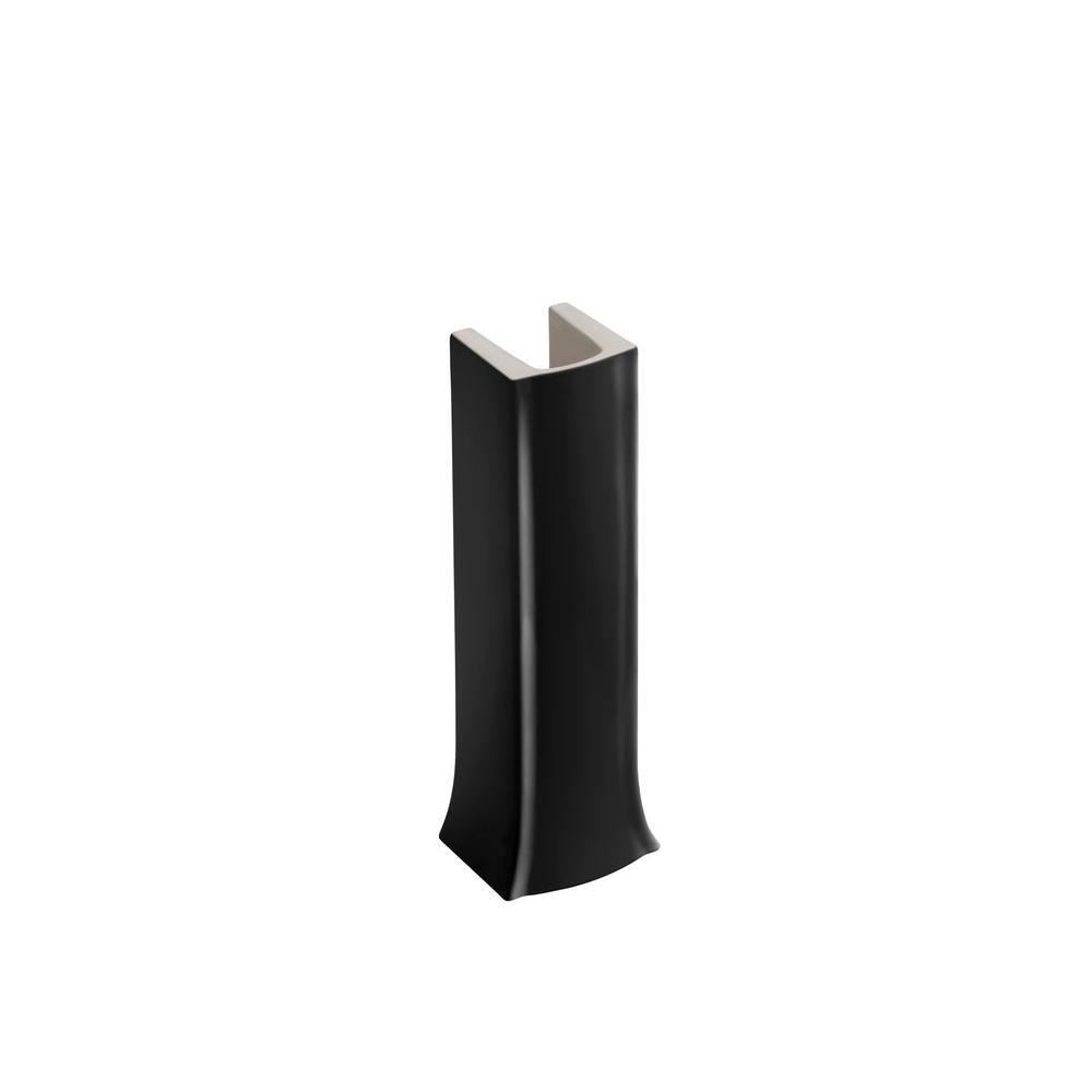 Archer Vitreous China Pedestal in Black Black