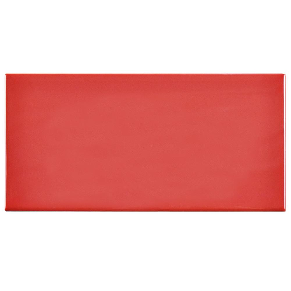 Merola Tile Park Slope Subway Glossy Le Red 3 In X 6 Ceramic