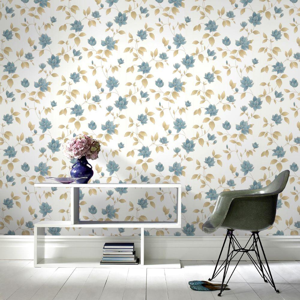 Amy Teal Removable Wallpaper