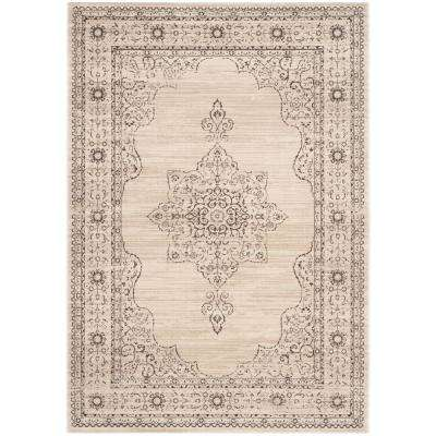 Serenity Cream/Gold 6 ft. x 9 ft. Area Rug