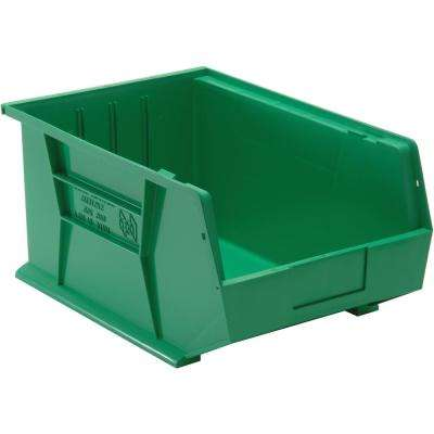 9.0 Gal. Ultra-Stack and Hang Storage Bin, Green (4-Pack)