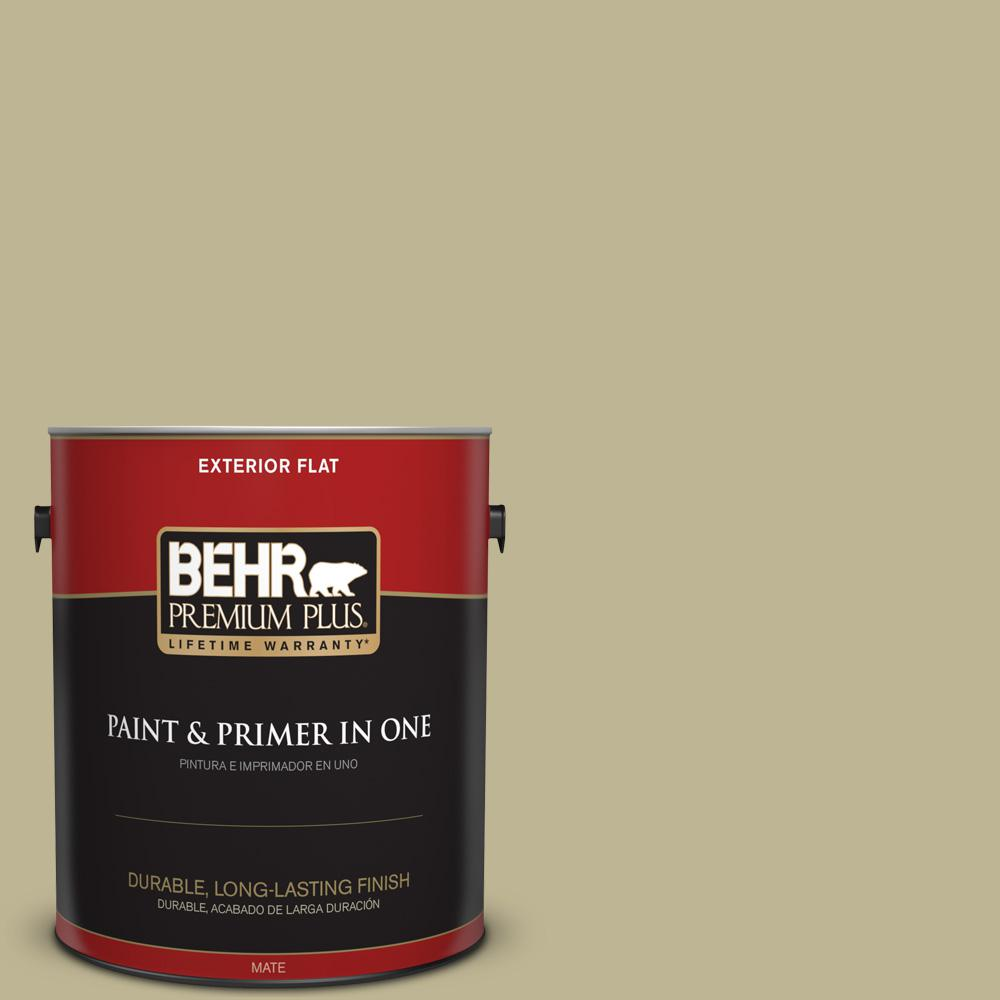1 gal. #MQ6-30 Bamboo Shoot Flat Exterior Paint and Primer in