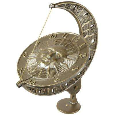 French Bronze Sun and Moon Sundial