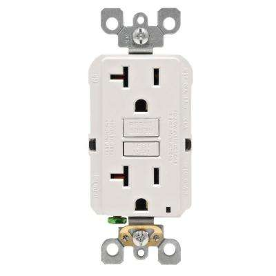 20 Amp 125-Volt Duplex Self-Test Slim GFCI Outlet, White (4-Pack)