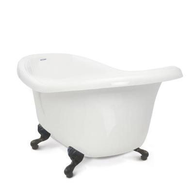 Chelsea 60 in. Acrylic Slipper Clawfoot Bathtub in White with Old Bronze Imperial Feet