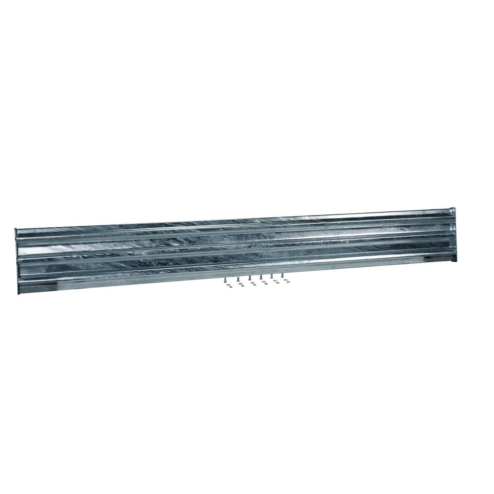 114 in. Galvanized Steel Bolt-On Style Structural Guard Rail with 2-Brackets