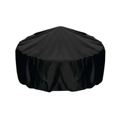 36 in. Fire Pit Cover in Black