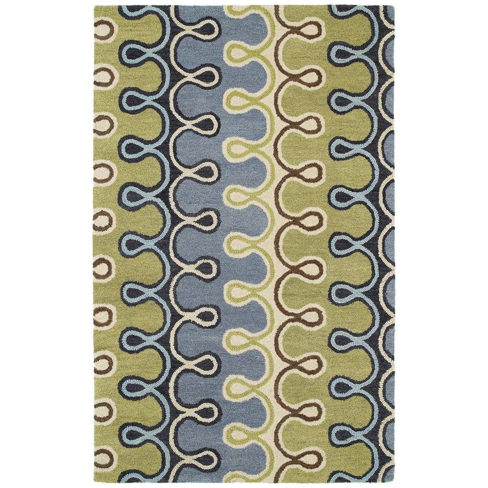 Kaleen Casual Axel Blue 7 ft. 6 in. x 9 ft. Area Rug