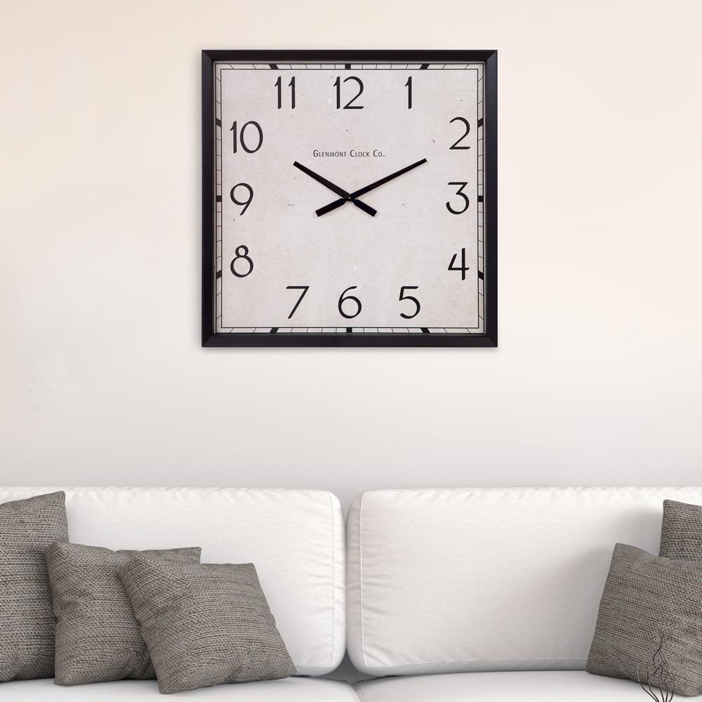 Modern Square Black Wall Clock