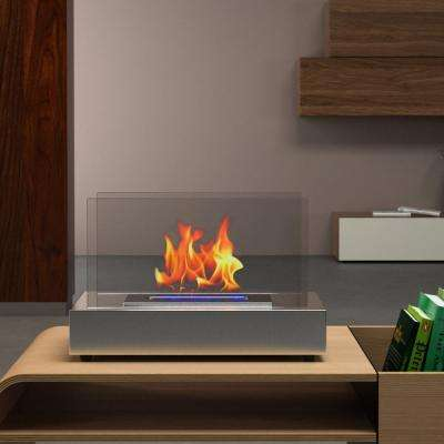 Vigo 14 in. Vent-Free Ethanol Fireplace in Stainless Steel