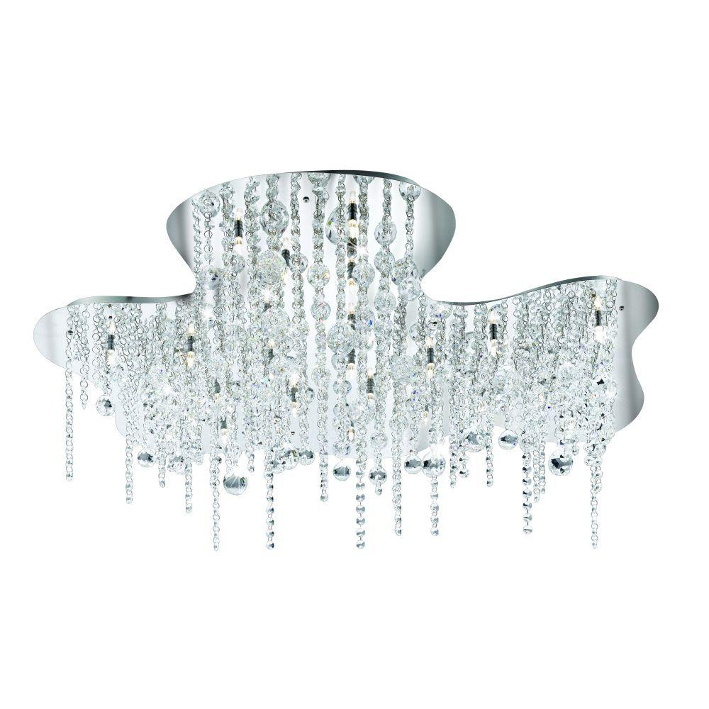 Eurofase Alissa Collection 26-Light Chrome Flush Mount