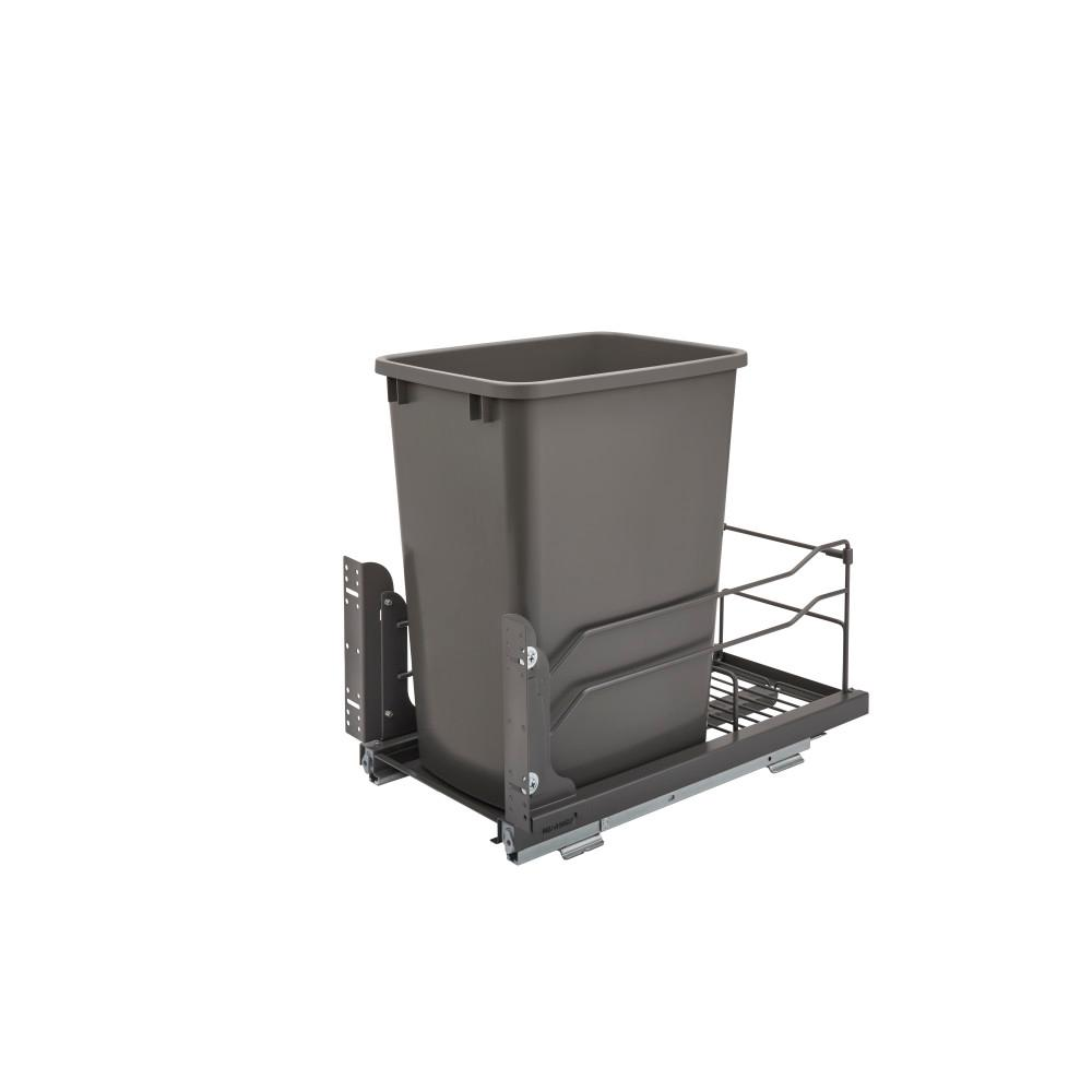 Single Pullout Trash Organizer Full Extension Soft Close System with Bin 36 Qt