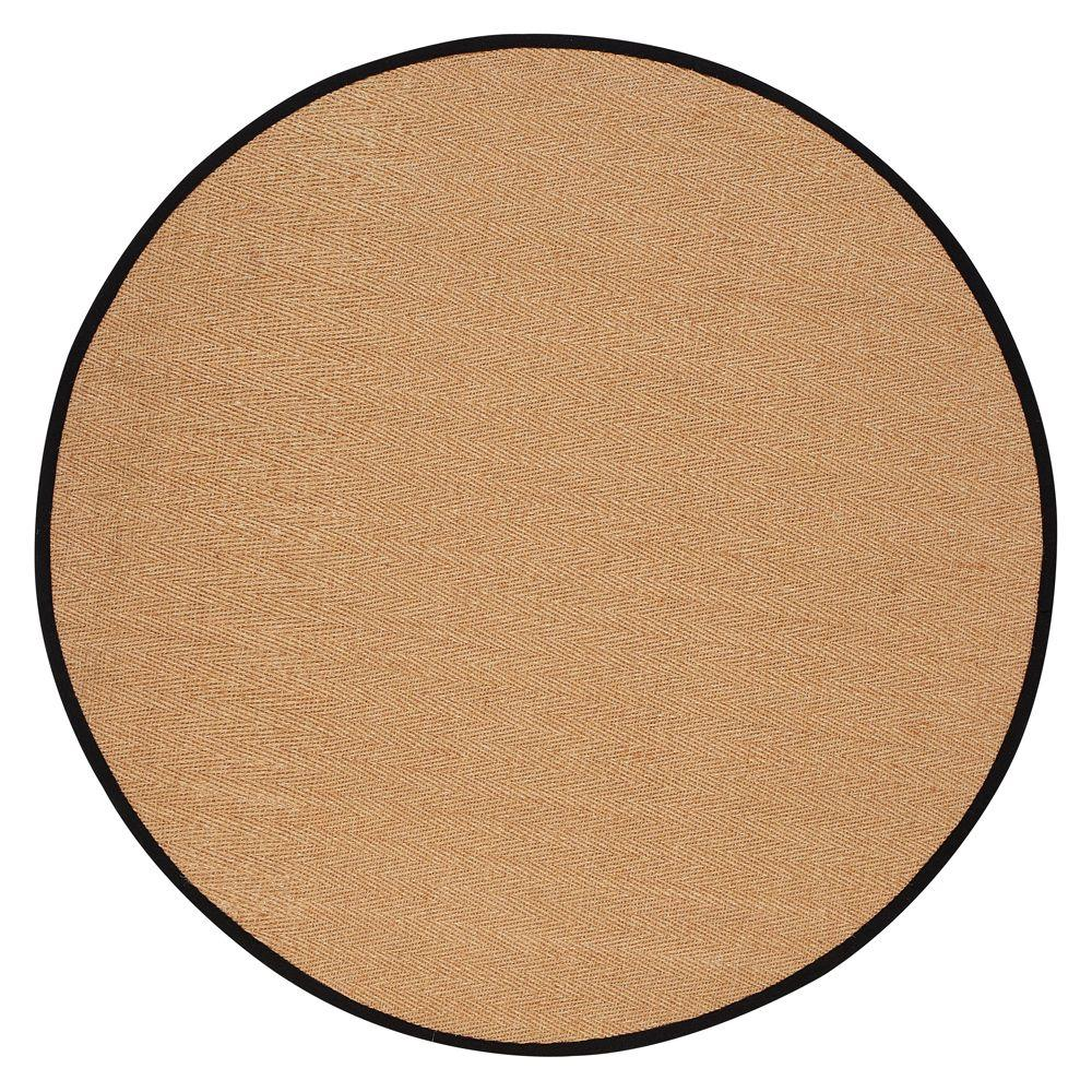 Home Decorators Collection Marblehead Black 6 ft. Round Area Rug