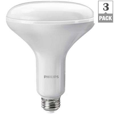 65-Watt Equivalent BR40 Dimmable LED Soft White with Warm Glow (3-Pack)
