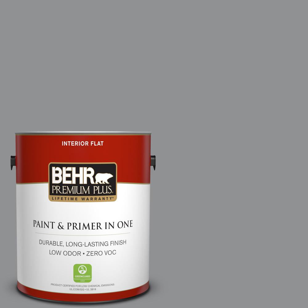 1-gal. #N520-4 Cool Ashes Flat Interior Paint