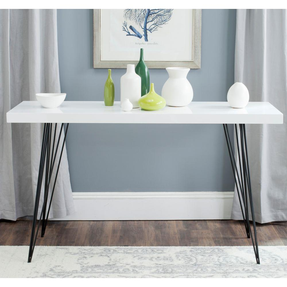 Safavieh Wolcott White And Black Console Table