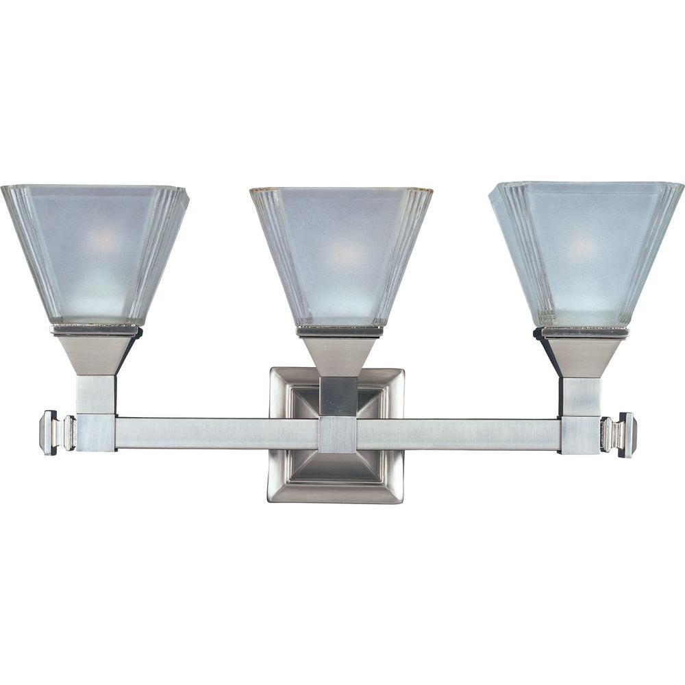 Maxim Lighting Brentwood 3-Light Satin Nickel Bath Vanity Light