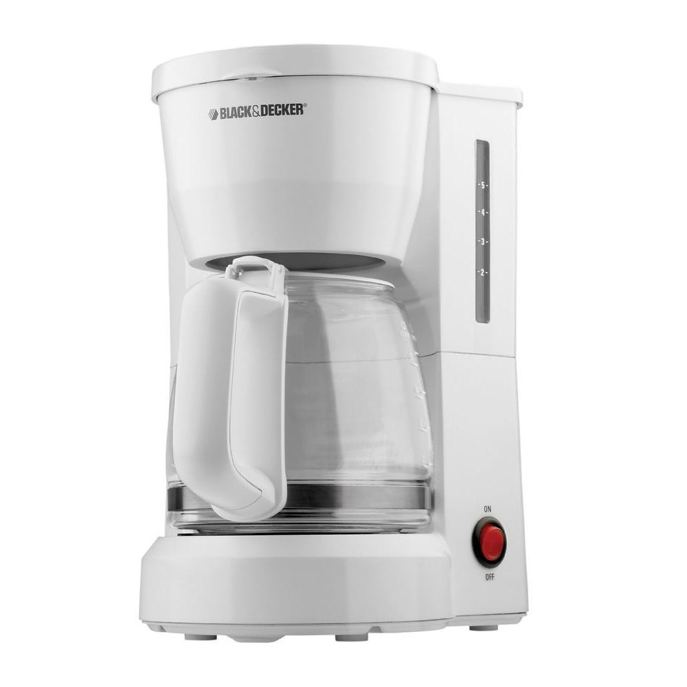5 Cup Coffee Maker Black Decker 5 Cup Coffee Maker Dcm600w The Home Depot