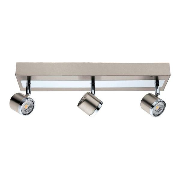 Pierino 1.5 ft. Satin Nickel and Chrome Integrated LED Track Lighting Kit