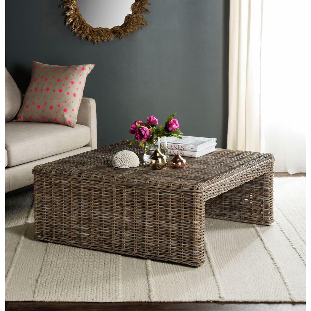 Natural Coffee Tables: Safavieh Persis Natural Coffee Table-SEA7030A