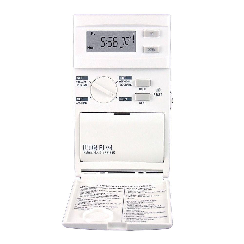 Lux 5-2 Day Programmable Heat-Only Thermostat
