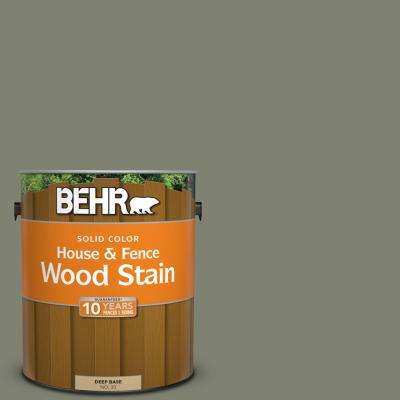 1 gal. #SC-137 Drift Gray Solid Color House and Fence Exterior Wood Stain