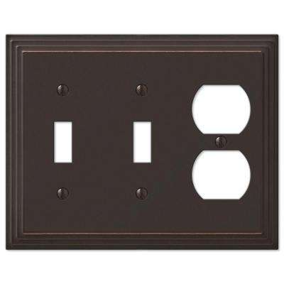 Steps 2 Toggle 1 Duplex Wall Plate - Aged Bronze