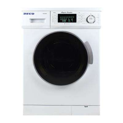 All-in-One Compact Combo Washer and Electric Dryer with Optional Condensing/Venting Dry in White