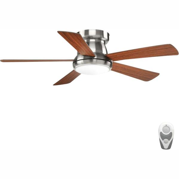 Vox Collection 52 in. LED Brushed Nickel Indoor Ceiling Fan