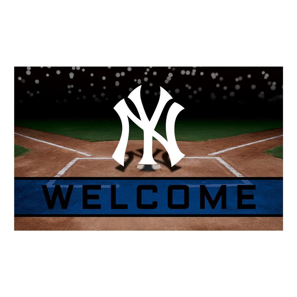 MLB - New York Yankees 18 in. x 30 in. Rubber Door Mat