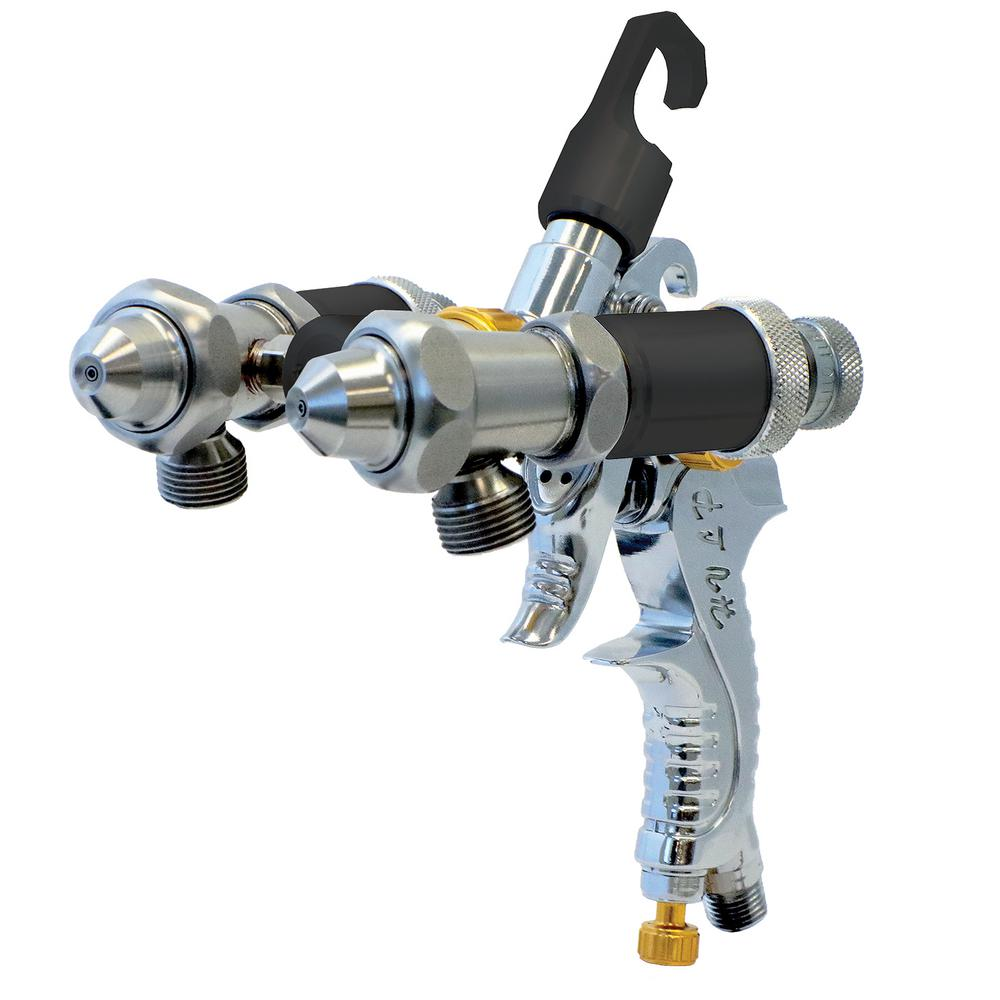 Paasche Dual head Spray Gun for Chroming, Silvering or any dual fluid application