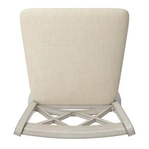 Magnificent 24 In H Antique White Double X Back Swivel Chair With Beige Linen Seat Uwap Interior Chair Design Uwaporg