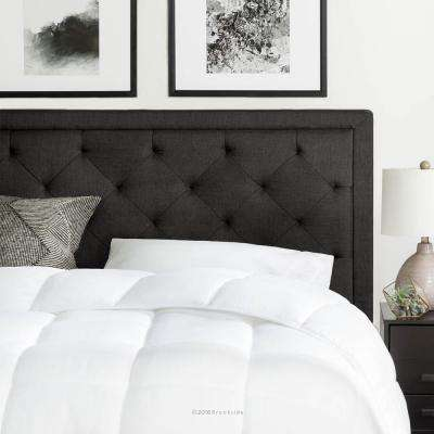 Marvelous Upholstered Charcoal King With Diamond Tufting Headboard