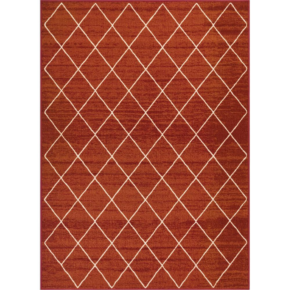Well Woven Kings Court Clover Red 8 ft. x 10 ft. Modern Moroccan Trellis Area Rug was $147.4 now $117.92 (20.0% off)