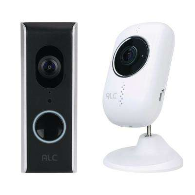 SightHD Wired Video Door Bell with 1080p Full HD Wi-Fi Camera with SightHD Full HD Wired 1080p Indoor Wi-Fi Camera