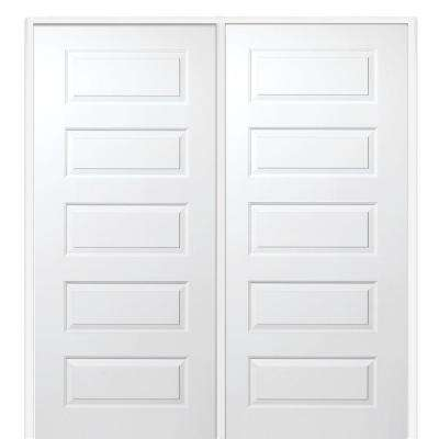 Primed Rockport Smooth Surface Solid Core Interior Double Door