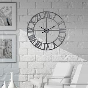 Utopia Alley Roman Rivet Edge Pewter 24 inch Antique Bronze Industrial Wall Clock by Utopia Alley