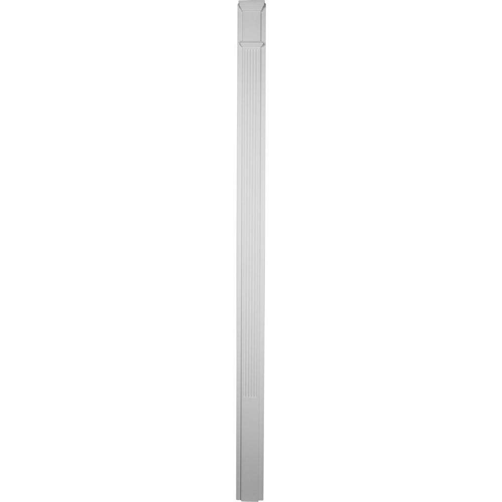 2 in. x 5-1/8 in. x 90-1/2 in. Polyurethane Fluted Pilaster