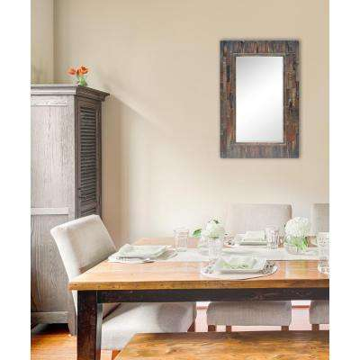 36 in. x 24 in. Acacia Framed Wall Mirror