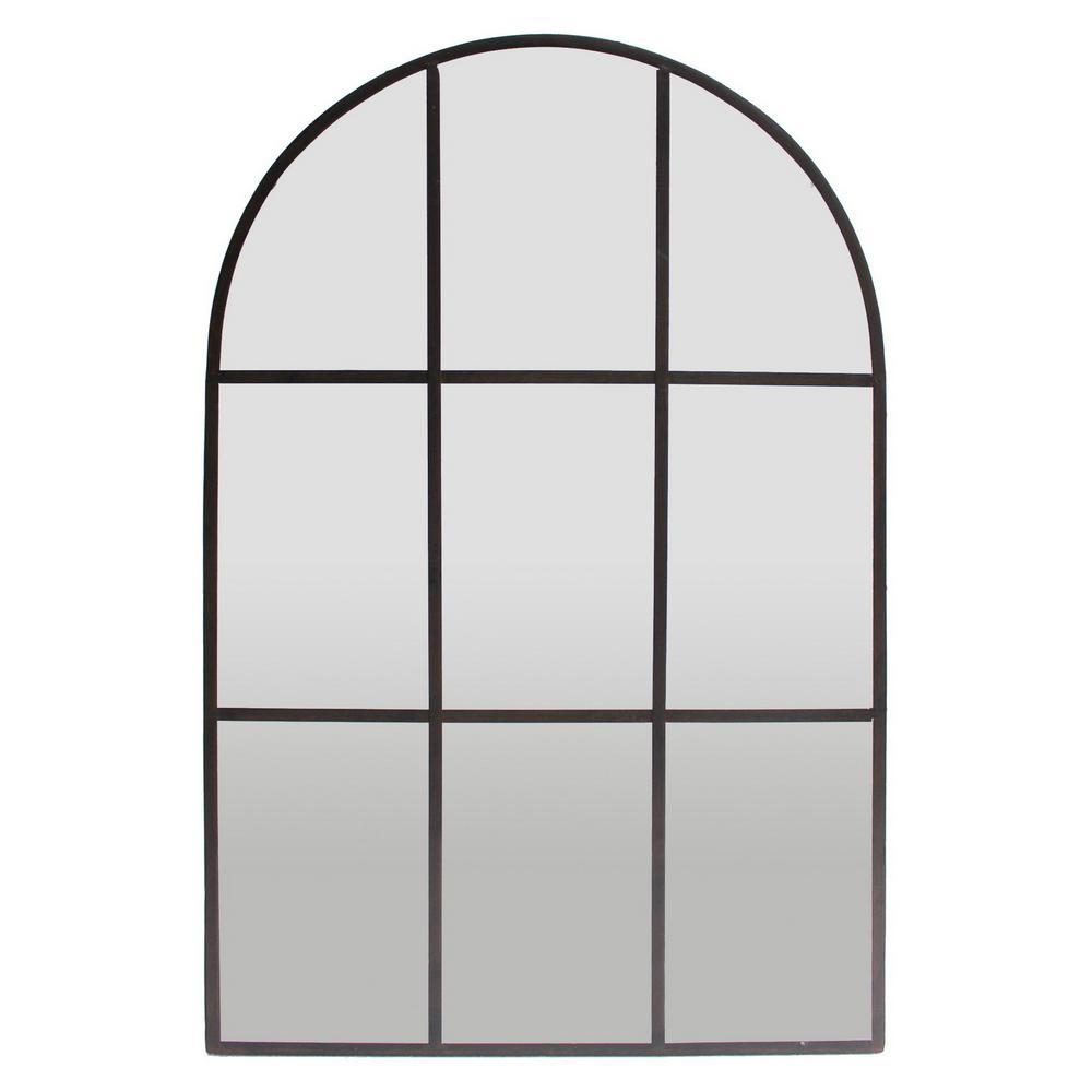 35.5 in. Rust Metal Wall Decor Mirror