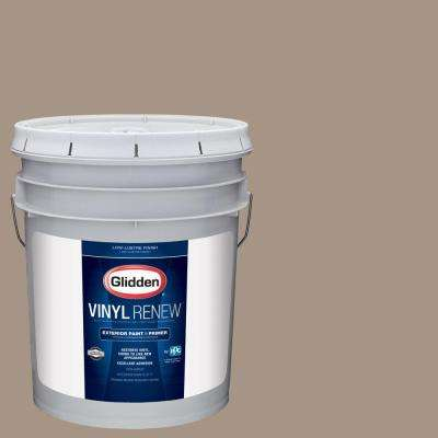5 gal. #HDGWN38D Brushwood Tan Low-Lustre Exterior Paint with Primer