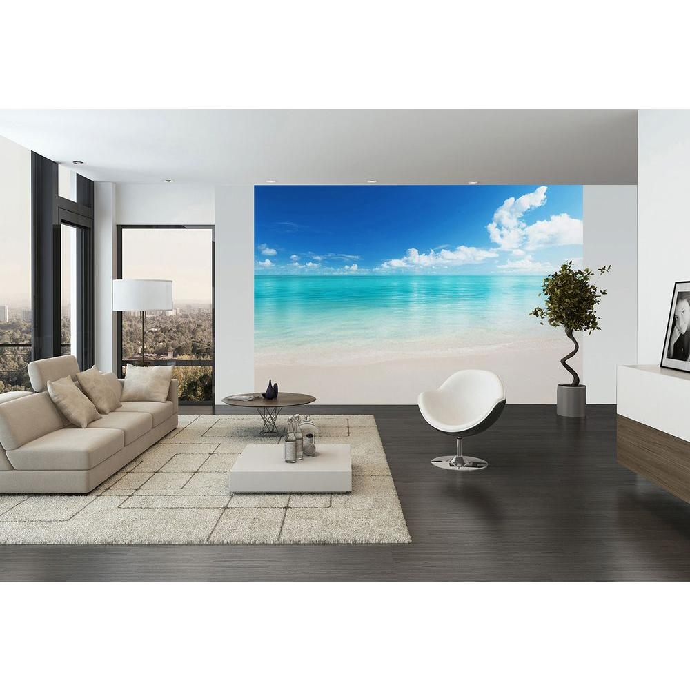 H The Beach Wall Mural DM156   The Home Depot