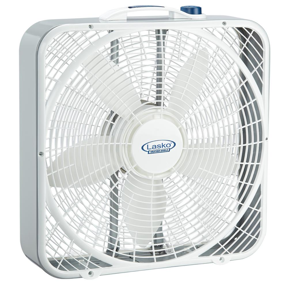 20 in. 3-Speed Weather Shield Performance Box Fan