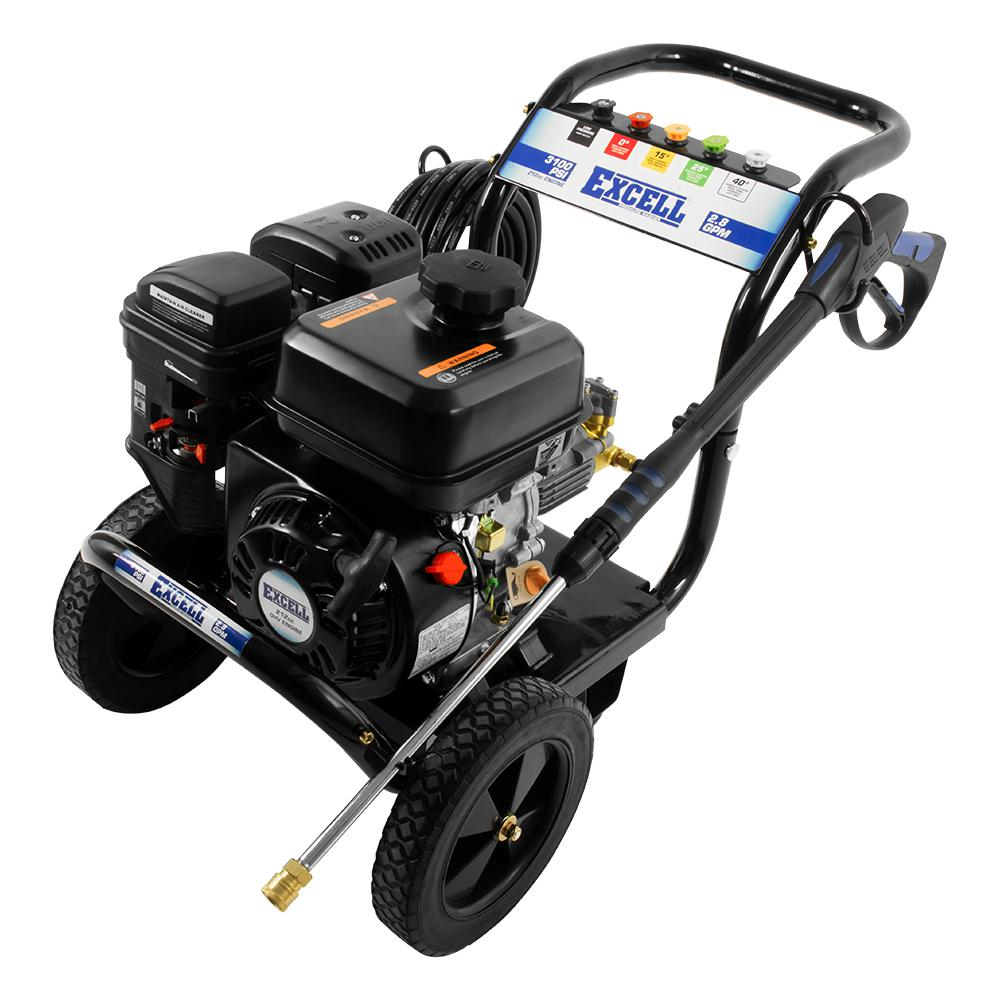 Excell 3100 Psi 2 8 Gpm 212cc Ohv Gas Pressure Washer Epw2123100 The Home Depot