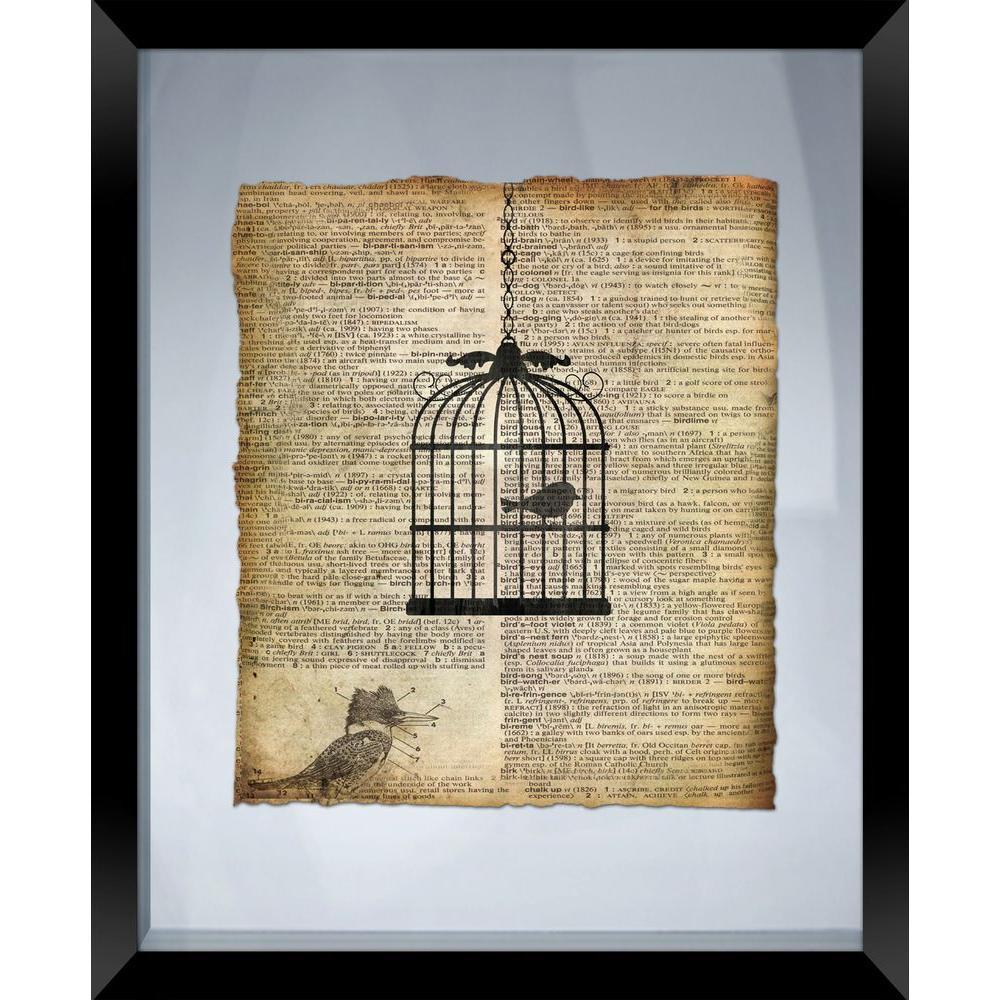 "22 in. x 18 in. ""Bird Cage"" Framed Wall Art"