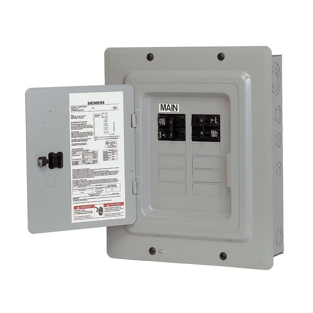 Home electrical sub panel wiring wiring solutions siemens 100 amp 10 space 20 circuit main breaker load center freerunsca Image collections
