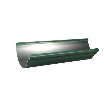 6 in. x 10 ft. Half Round Forest Green Aluminum Gutter