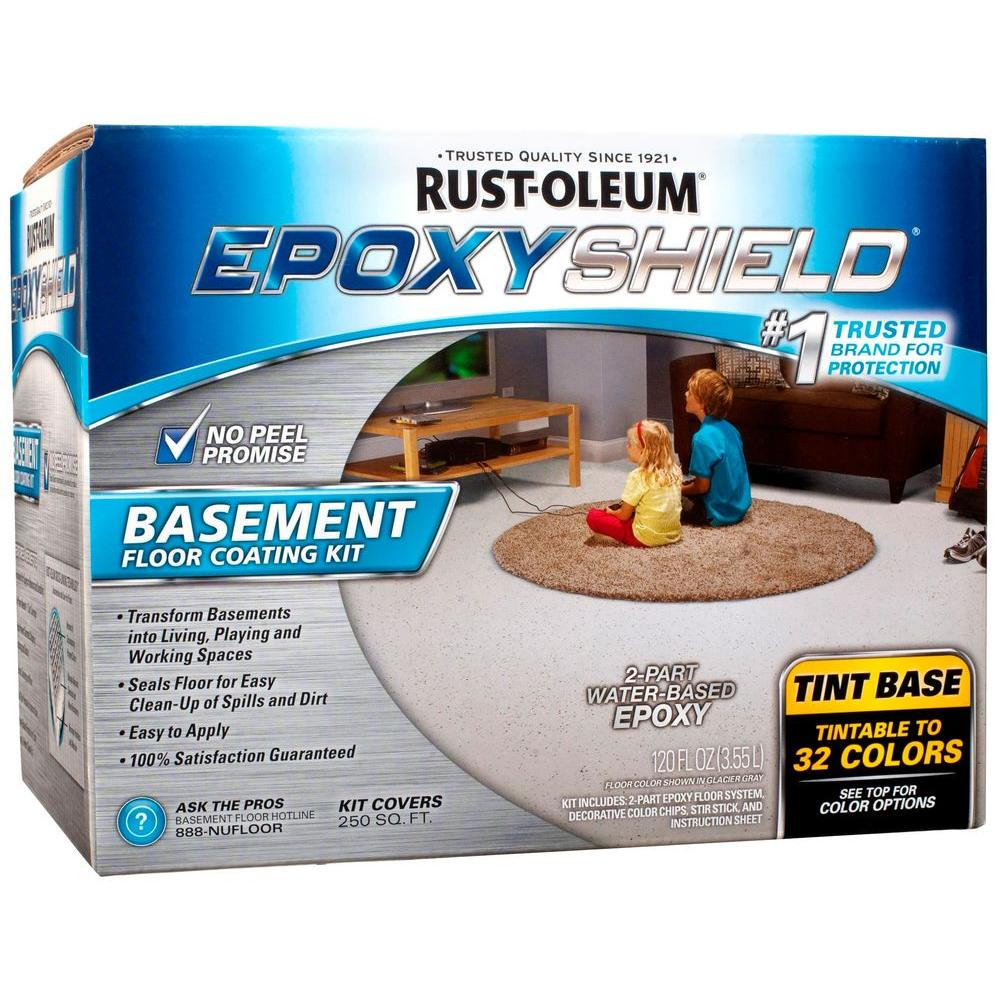 Rust-Oleum EpoxyShield 240 oz. Gray High-Gloss 2.5 Car Garage Floor ...